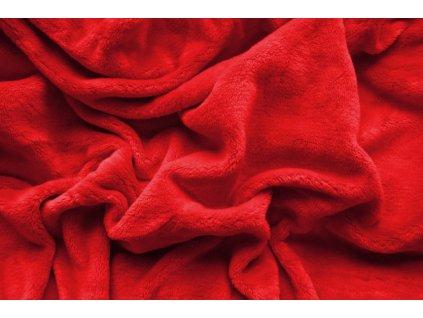 Prostěradlo mikroplyš - Červená 90x200 cm