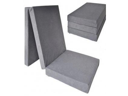 Skládací matrace šedá