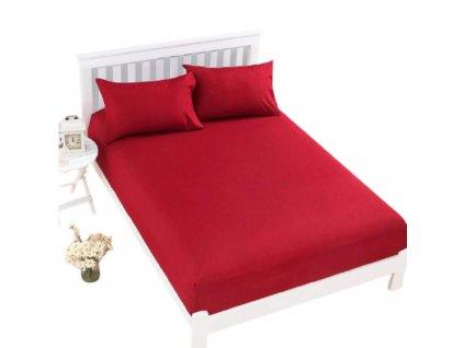 Prostěradlo Jersey Top 180x200 cm červená