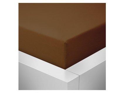 Prostěradlo Jersey Top 180x200 cm tmavě hnědá