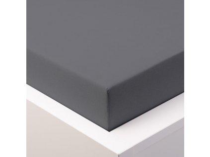 Prostěradlo Jersey Top 180x200 cm tmavě šedá