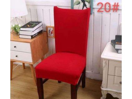 Potah na židli - červený