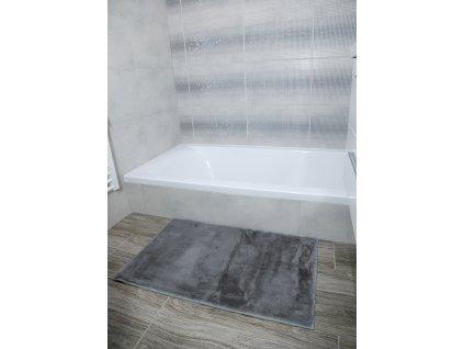 Koupelnová předložka Králík 50x80cm - stříbrná