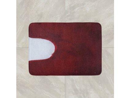 Předložka na WC 50x50 cm - červená