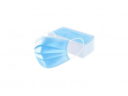 Jednorázová třívrstvá rouška modrá