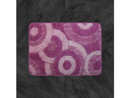 Koupelnová předložka Comfort 50x80cm - růžové kruhy