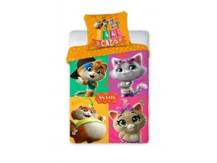 Bavlněné povlečení 44 cats/kočky