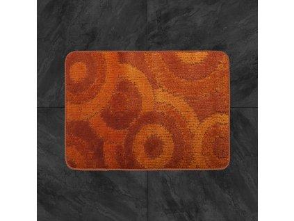 Koupelnová předložka Comfort  50x80cm - oranžové kruhy