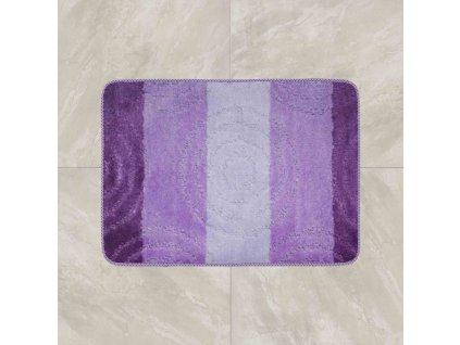 Koupelnová předložka Comfort 50x80cm - fialové pruhy
