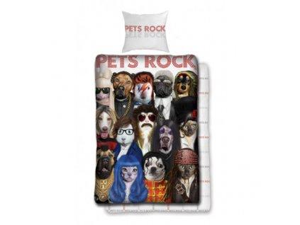 Bavlněné povlečení Pets Rock