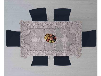 UBRUS bílá krajka 150x150