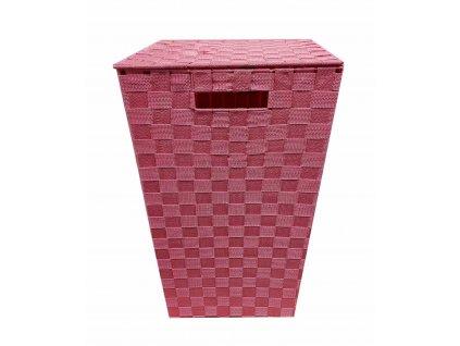 Košík velký 33x33x53 růžový