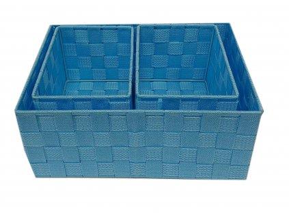 Košík - set modrý