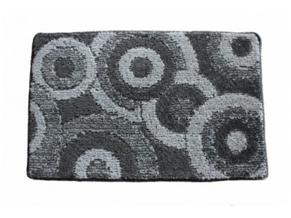 Koupelnová předložka Comfort 50x80cm -  šedé kruhy