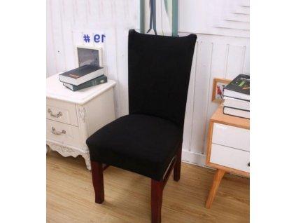 Potah na židli -černý