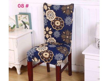 Potah na židli - modrá mandala
