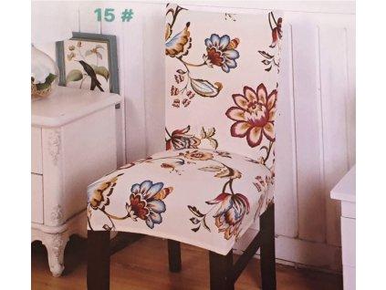Potah na židli - krémové květy
