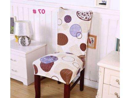 Potah na židli - kruhy