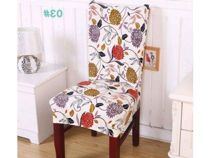 Potah na židli - květiny