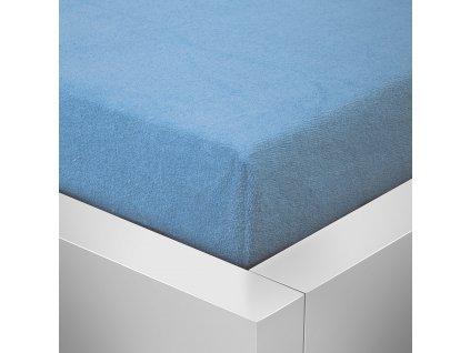 Prostěradlo Froté Top 180x200cm světle modrá