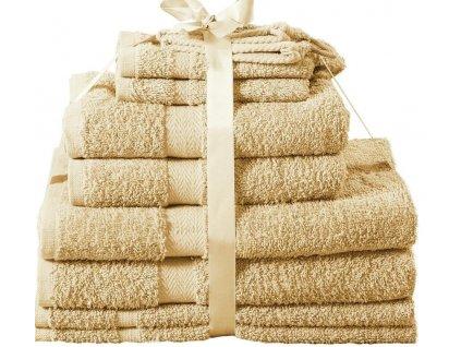 Sada ručníků Kombo jambo béžová