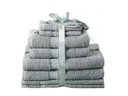 Sada ručníků Kombo jambo světle šedá