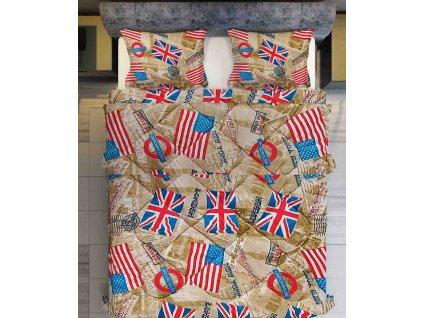 Set polštář s přikrývkou Vlajka béžová