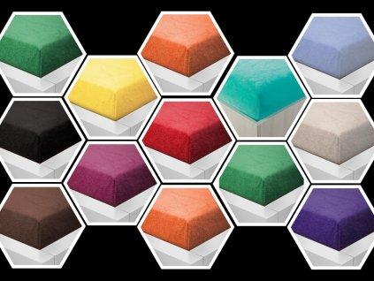 Prostěradlo Froté II. jakost 90x200cm 4 ks mix barev