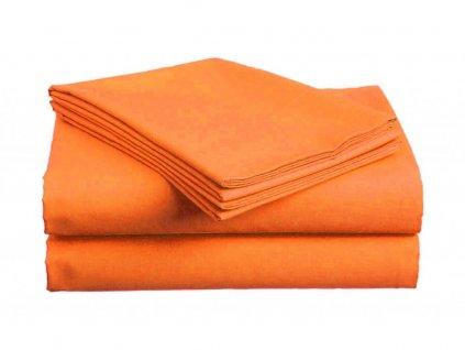 Bavlněné prostěradlo - Plachta oranžová
