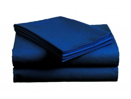 Bavlněné prostěradlo - Plachta tmavě modrá