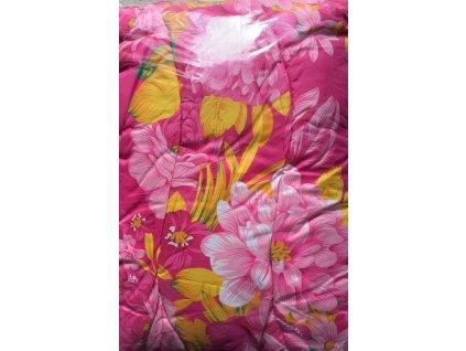 Set polštář s přikrývkou Růžový květ