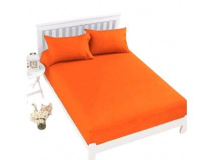 Prostěradlo Jersey Top 160x200 cm oranžová