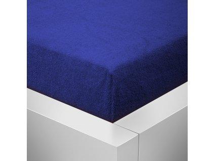 Prostěradlo Froté Top 140x200 cm tmavě modrá