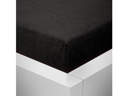 Prostěradlo Froté Top 160x200 cm černá