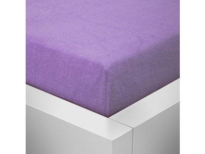 Prostěradlo Froté Top 160x200 cm lila