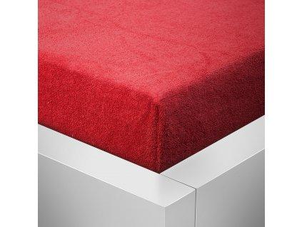 Prostěradlo Froté Top 160x200 cm červená