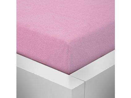 Prostěradlo Froté Top 160x200 cm růžová
