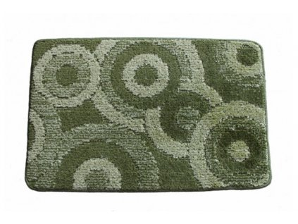 Koupelnová předložka Comfort 50x80cm - zelené kruhy
