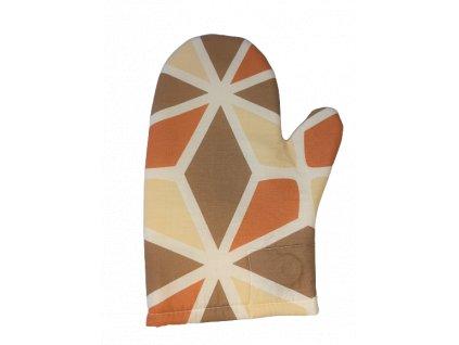 Kuchyňská chňapka hnědá mozaika