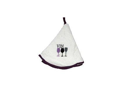 Kulatý ručník - Vin