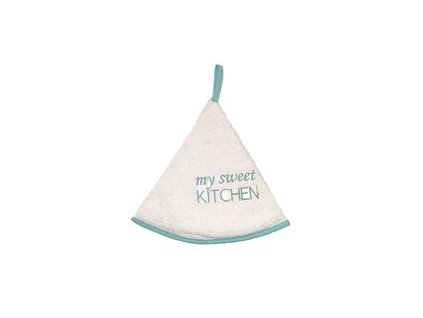 Kulatý ručník - My sveet kitchen - modrá