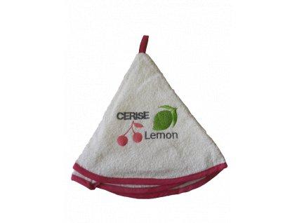 Kulatý ručník - Lemon