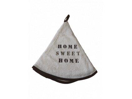 Kulatý ručník - Home sweet home