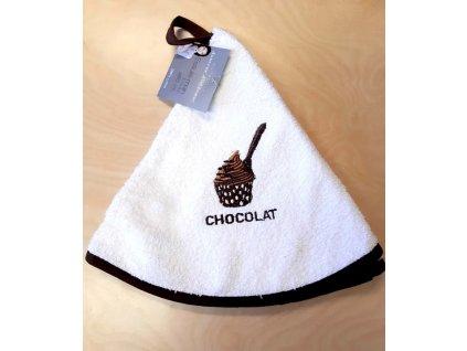 Kulatý ručník - My sveet kitchen - šedá