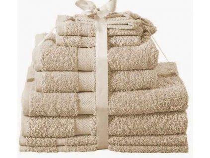 Sada ručníků Kombo jambo krémová