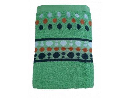 Osuška zelený puntík