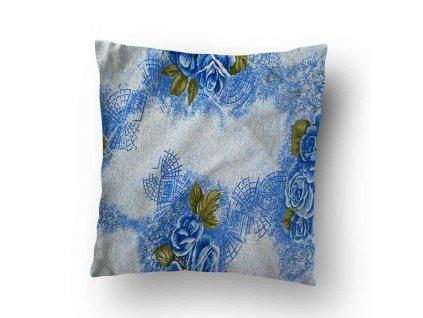 Povlak na polštářek Modrá růže 40x50 cm