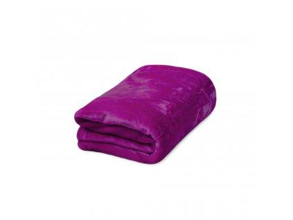Deka mikroflanel fialová 150x200 cm