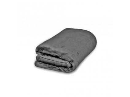 Deka Mikroflanel tmavě šedá 200x230 cm