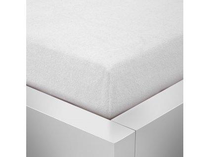 Prostěradlo Froté Top 160x200 cm bílá